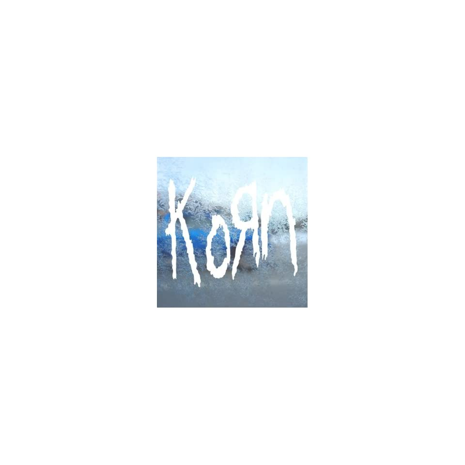 Korn White Decal Metal Rock Band Car Window Laptop White Sticker