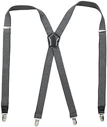 Dockers Men\'s Textured Solid Suspender, Gray, One Size