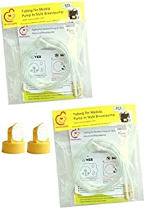 Tubing (2 Packs, 4 Tubes) and 2 Valves and 2 Membranes for Medela Pump In Style Advanced Breast Pump Released after July 2006. In Retail Pack. Replace Medela Tubing, Medela Membrane, and Medela Valve