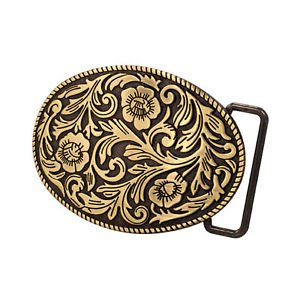Bronze Cowgirl Girly Flowers Western Ornate Belt Buckle Southern Abstract Cool