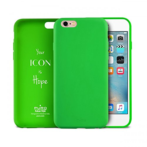 Icon IPC647ICONL Puro-Cover in silicone per Apple iPhone 6/6S, colore: verde