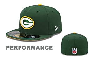 Green Bay Packers On-Field 59Fifty Green Fitted Sideline Hat by New Era