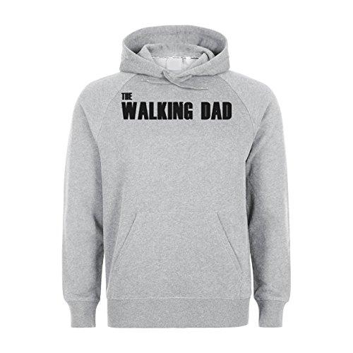 Top Dad The Walking Dead, Felpa con cappuccio Unisex grigio Large