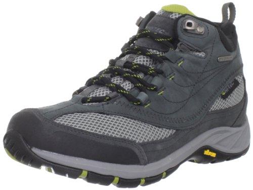 Hi-Tec Men's Storm Mid Waterproof Hiking Shoe,Charcoal/Chartreuse,13 M US