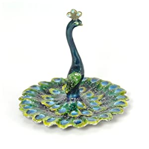 Amazon.com - Peacock Enameled Pewter Ring/Jewelry Holder -