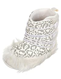 "Rugged Bear Baby Girls' ""Leopard & Buttons"" Boots"