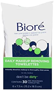 Biore Makeup Removing Towelettes, 30 Count