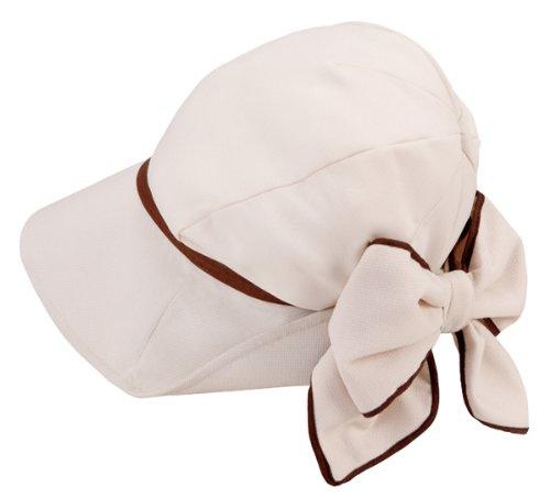 髪型ふんわり小顔UV帽子ベージュ 紫外線対策