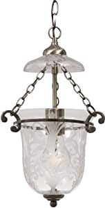 Crystorama 5761-AB Camden - One Light Pendant, Choose Finish: Antique Brass