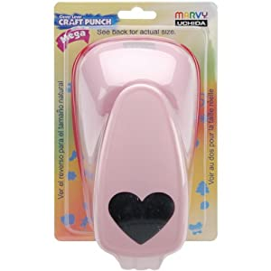 Marvy Uchida Clever Lever Mega Craft Punch, Heart