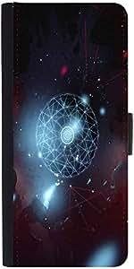 Snoogg Nebula Spectrum Graphic Snap On Hard Back Leather + Pc Flip Cover Sams...