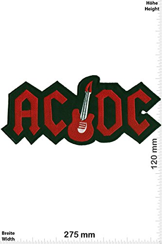 Patch - ACDC - AC DC - with Guitar - 27 cm - BIGPATCH - Rocker - Biker - Patches - toppa - applicazione - Ricamato termo-adesivo - Give Away
