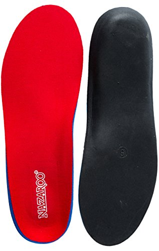 Orthotics for Flat Feet by NAZAROO-Shoe Insoles Perfect For Alleviating Heel Pain, Plantar Fasciitis, Pronation, and Fallen Arches Support (Mens 12 - 12 1/2 | Womens 14 - 14 1/2) (Shoe Inserts Men Arch Support compare prices)