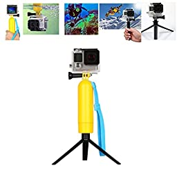 DigiHero New Floating Hand Grip/Bobber,Stick Monopod Pod with Mini Tripod, 3-in-1 Water Sport Accessories Kit for Gopro - Compatible with GoPro Hero 1/2/3/3+/4 and Most of The Digital Cameras