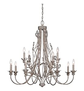 Awesome Quoizel WSYIF Wesley with Italian Fresco Finish Two Tier Chandelier and Lights White