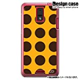 HTC J ISW13HTハード ケース カバー ジャケット/1077_ドット大柄オレンジ/CR