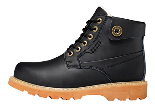 Guciheaven Winter British Style Caual Leather High Shoes(7 D(M)Us, Black)