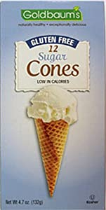 Goldbaums Ice Cream Cones, 12 Cones, Gluten Free Sugar Cone, 4.7-Ounce (Pack of 4)