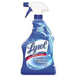 LYSOL Brand Disinfectant Bathroom Cleaners, Liquid, 32 oz Bottle - 12 bottles.