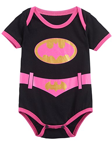 A&J Design Baby Girls' Batgirl Short Sleeve Onesie (12-18 Months) (Aj 16 compare prices)