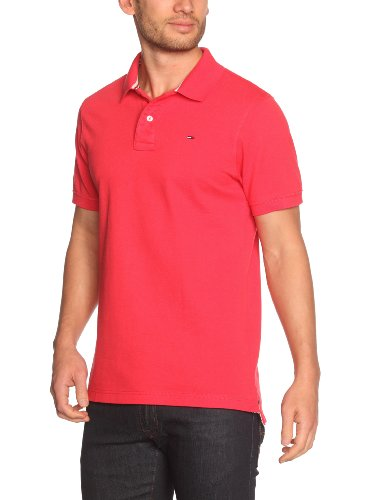 Tommy Hilfiger Pilot Polo Flag Shortsleeve 614 Polo Men's T-Shirt Scarlet Large