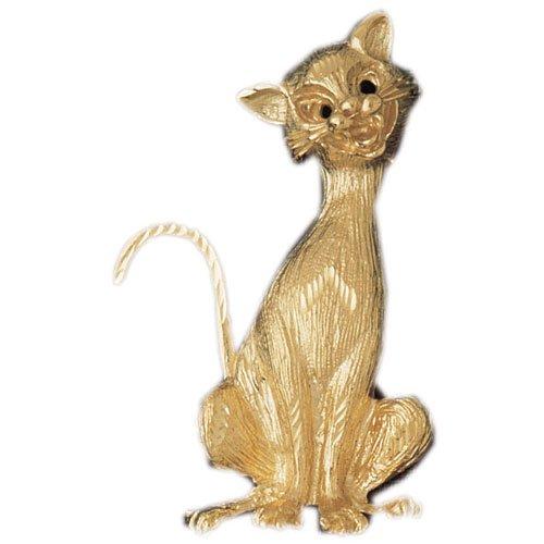 CleverEve's 14K Gold Pendant Cat 16 - Gram(s)