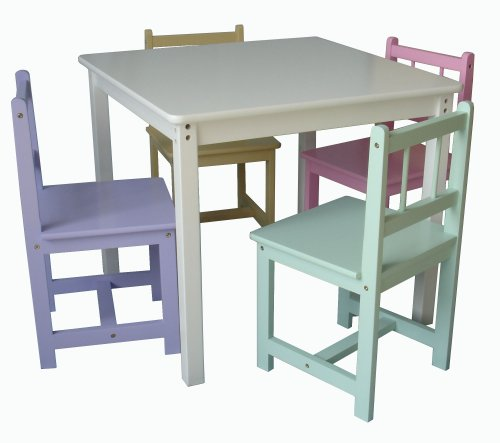Beck Childrens Pastel Wooden Chairs