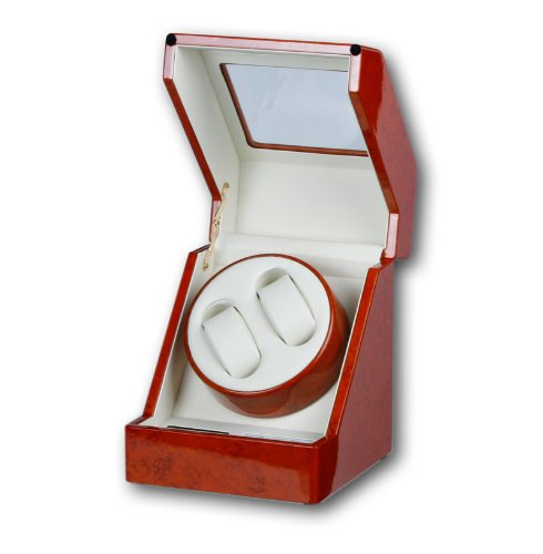 R.U.Braun Unisex Watch Winder 1002280 Penta for 1-2 Watches Digital Walnut Wood