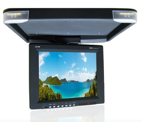 Xo Vision Gx1559 15-Inch Tft-Lcd Overhead Flip-Down Ceiling Mount Monitor