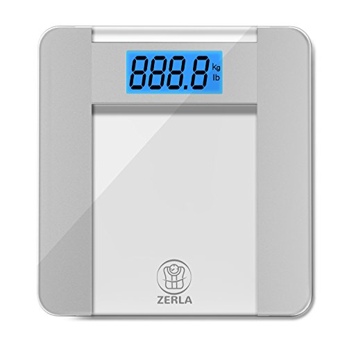 ZERLA Digital Bathroom Scale - Highly Accurate Digital Scale with