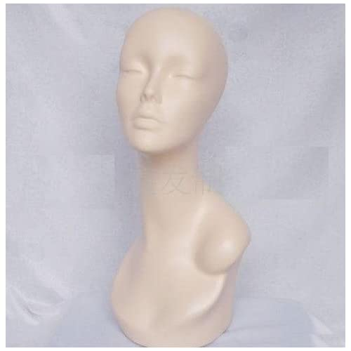 New Beautiful Female Mannequin Head for Fashion Wig/hat/jewelry Display Natural Color 44cm