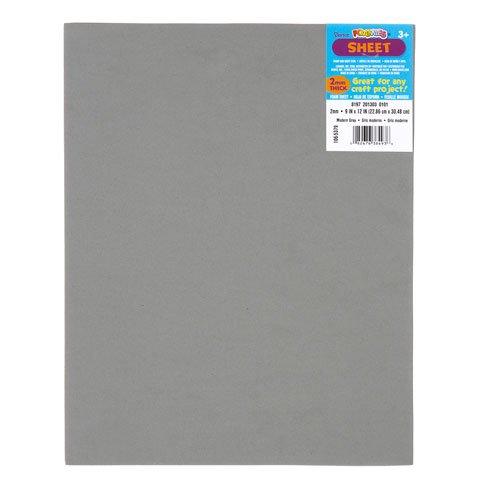 Bulk Buy: Darice Foamies Foam Sheet Modern Grey 2mm thick 9 x 12 inches (10-Pack) 106-5379
