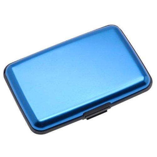 Aluma Wallet Credit Card Holder RFID Blocking - Blue Color