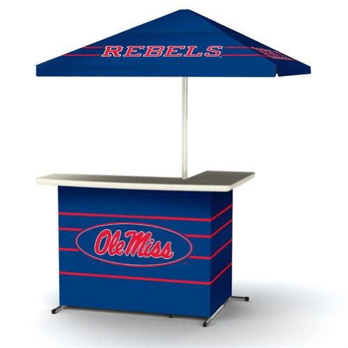 Ncaa Ole Miss Rebels Wheeled Portable Bag Travel L-Shape Umbrella Basic Bar Blue