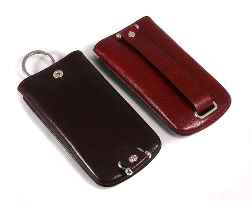Sage Brown Genuine Leather Large Key Case