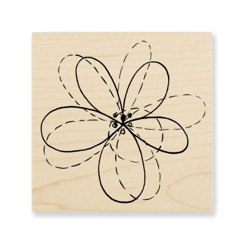 "Stampendous Wooden Handle Rubber Stamp, ""Pen Pattern Flower"""