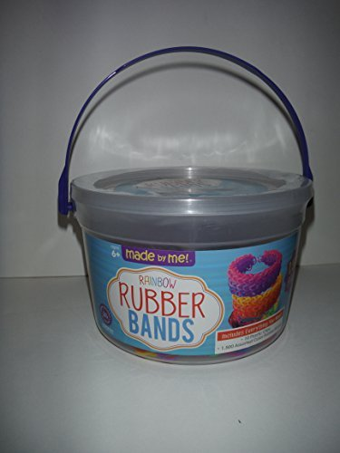 Rainbow-Rubber-Bands-Bucket-1500-Bands-10-Clips-Bracelet-Making