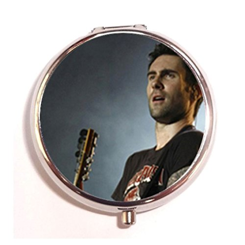 Adam-Levine-Heavy-Custom-Round-Silver-Pill-Box-Pocket-20-inches-Medicine-Tablet-Holder-Organizer-Case-for-Purse
