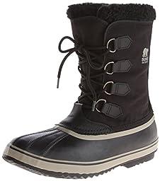 Sorel Men\'s 1964 Pac Nylon Snow Boot,Black/Tusk,11 M US