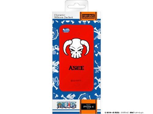 レイアウト iPhone4シリーズ用ワンピース海賊旗コレクションシリコンジャケット エースRT-OP3A/AS