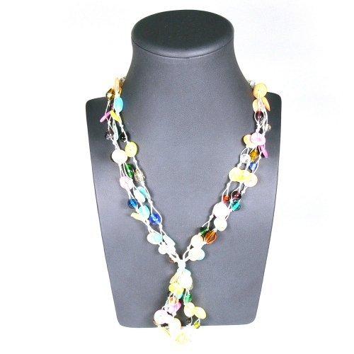 Franki Baker Multi-Colored Shell Multi-strand Necklace (19