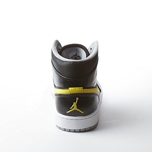 NikeAir Jordan Retro 1 Mid Sport Blue - Infrared 23 - Black - White Mens 8.5