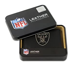 NFL Oakland Raiders Embroidered Trifold Leather Wallet by Rico