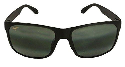 lunettes-de-soleil-maui-jim-red-sands-noir-mat-gris-neutre-polar-