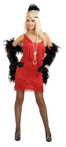 CH01119 (3X, Red) Adult Flapper Costume