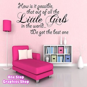 1stop Graphics Shop Best Little Girl Wall Art Quote