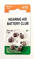 Hearing Aid Battery Club ZeniPower Mercury Free Size 13 (60 pack)