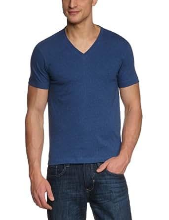 Ben Sherman Men's Basic V-Neck Tee Shirt, Indigo Blue, Small