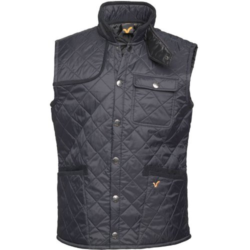 Voi Jeans Mens Pacemaker Quilted Gilet Black