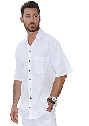 Cotton Natural Mens Casual Button Down Peruvian Pima